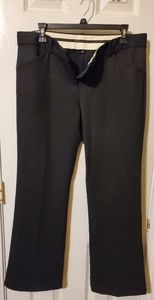 Theory Sz 12 Black Stretch Wool Trousers/Pants